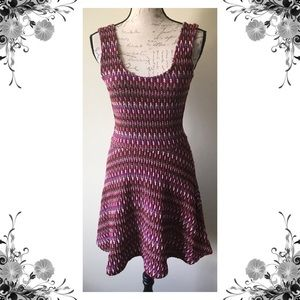 {Lovers + Friends} Chevron Knit Skater Mini Dress